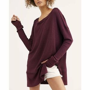 Free People  North Shore Thermal Fig Sorbet